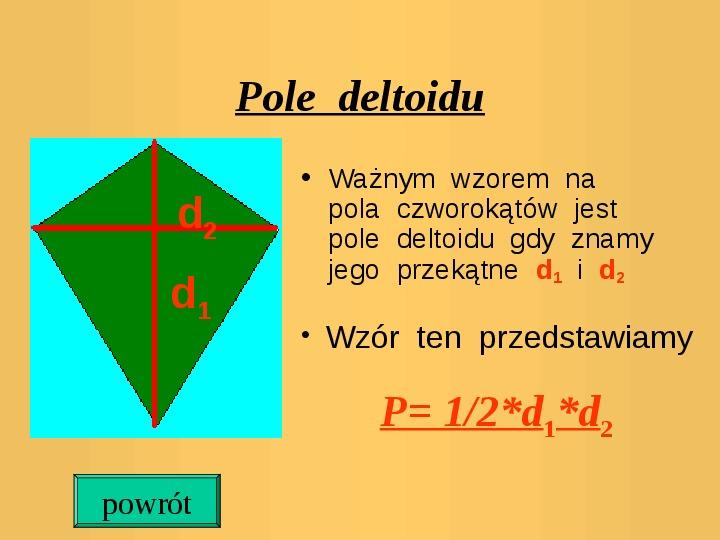 Pola trójkątów i czworokątów. Jednostki pola - Slajd 11