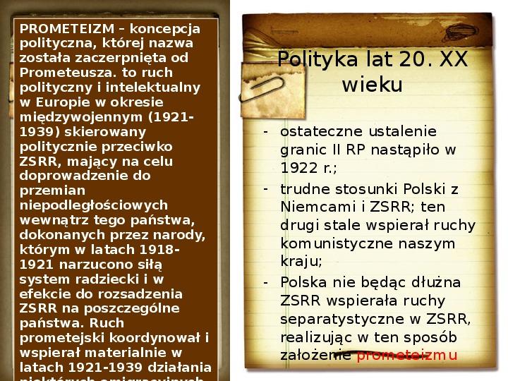 Polska polityka zagraniczna okresu międzywojennego - Slajd 2