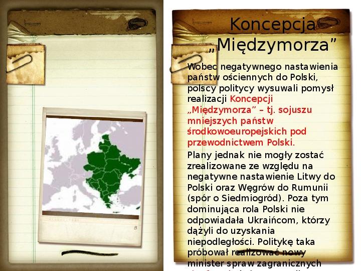 Polska polityka zagraniczna okresu międzywojennego - Slajd 6