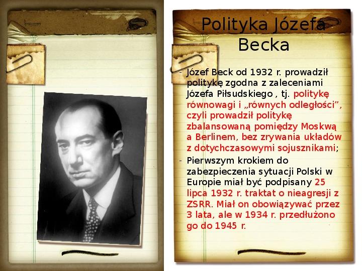 Polska polityka zagraniczna okresu międzywojennego - Slajd 8