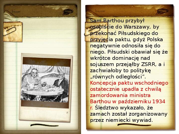 Polska polityka zagraniczna okresu międzywojennego - Slajd 11