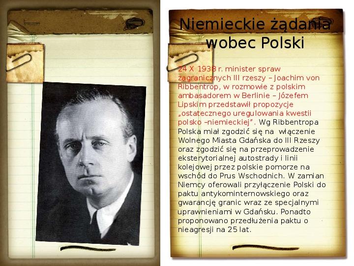 Polska polityka zagraniczna okresu międzywojennego - Slajd 14