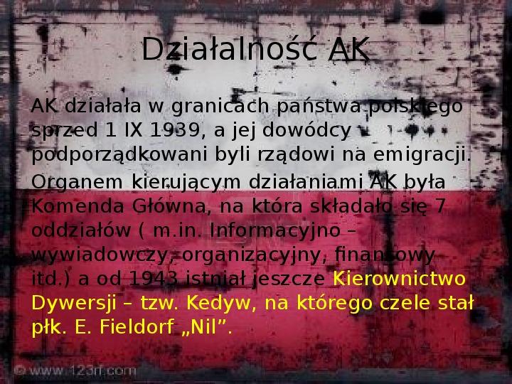 Polskie Państwo Podziemne - Slajd 7