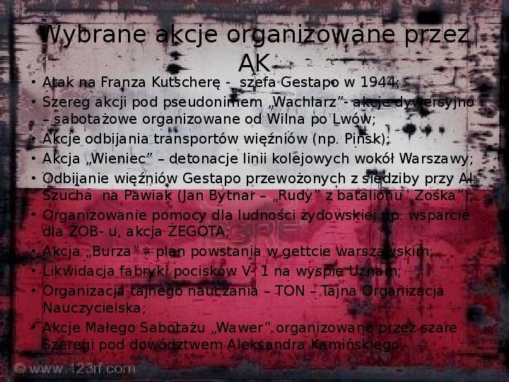 Polskie Państwo Podziemne - Slajd 8
