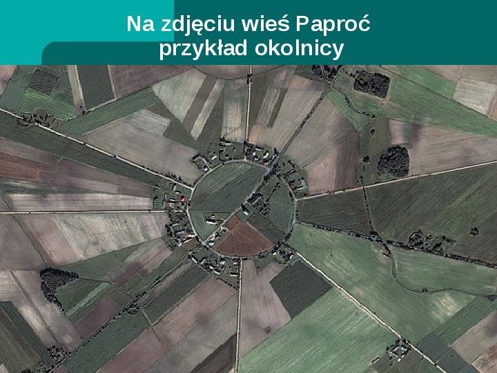 Typy osadnictwa wiejskiego - Slajd 10