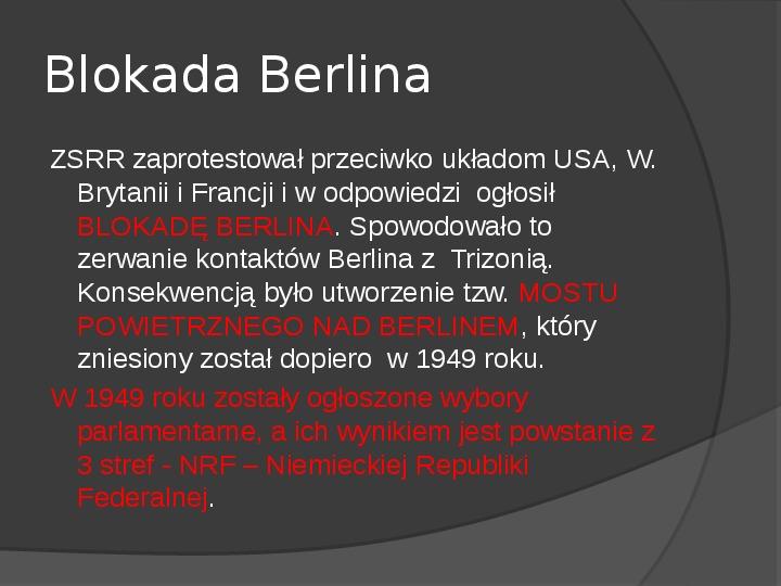 Powstanie dwóch państw niemieckich - NRD i NRF - Slajd 9