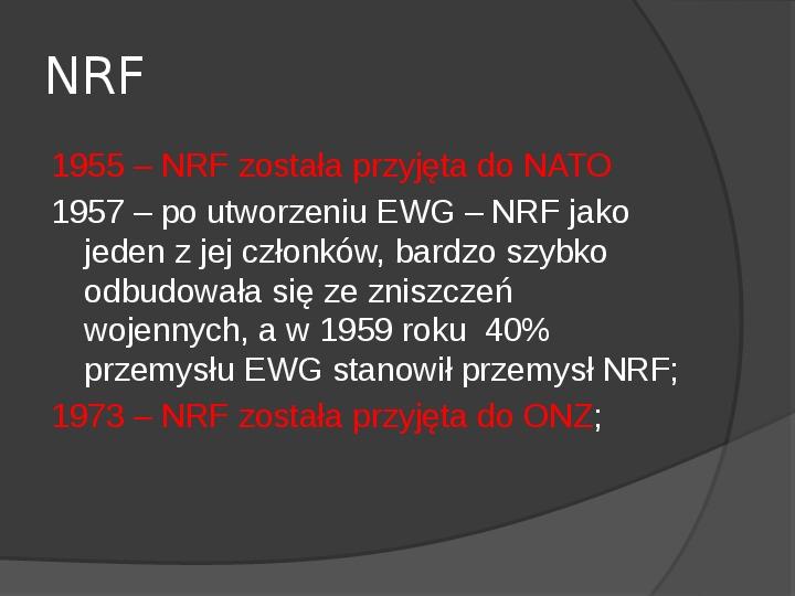 Powstanie dwóch państw niemieckich - NRD i NRF - Slajd 11