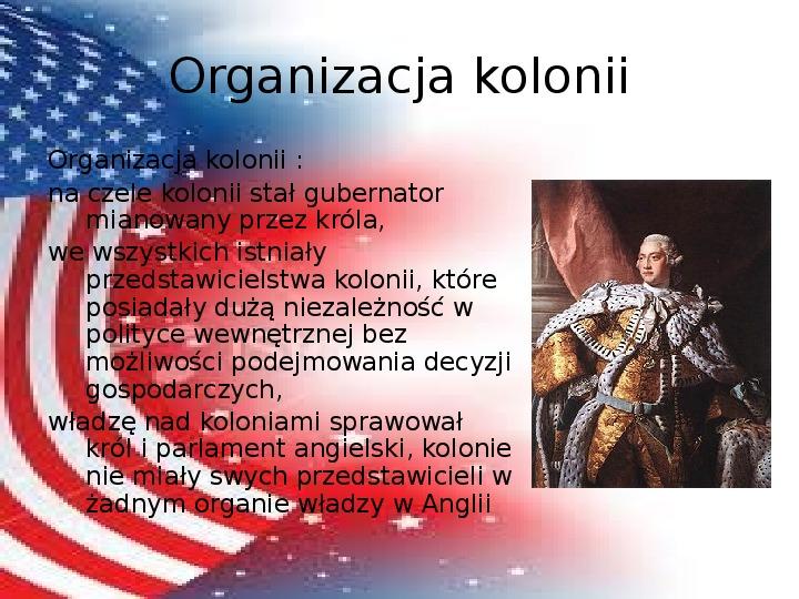 Powstanie Stanów Zjednoczonych Ameryki - Slajd 4