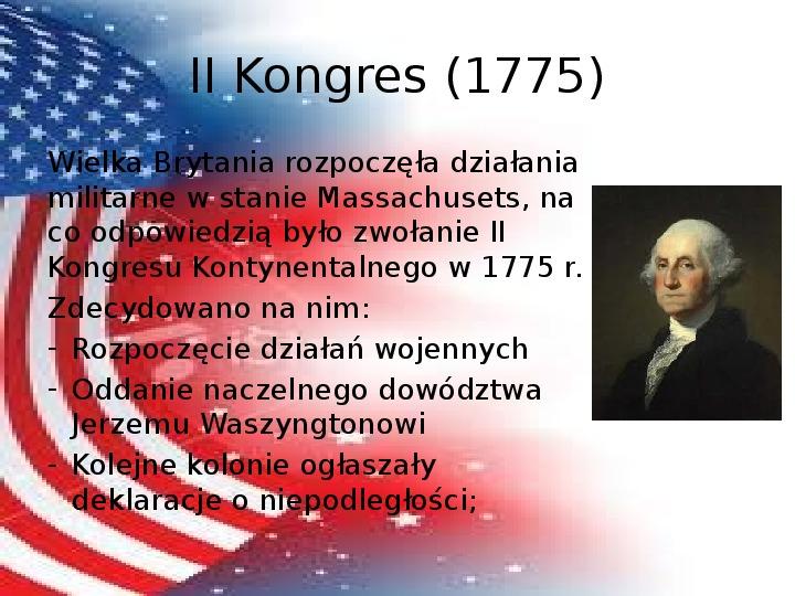 Powstanie Stanów Zjednoczonych Ameryki - Slajd 10