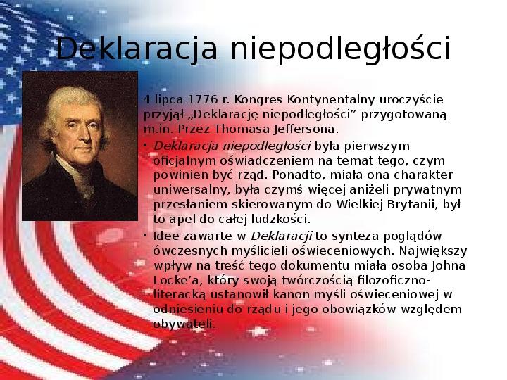 Powstanie Stanów Zjednoczonych Ameryki - Slajd 11