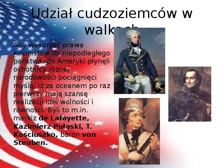 Powstanie Stanów Zjednoczonych Ameryki - Slajd 14