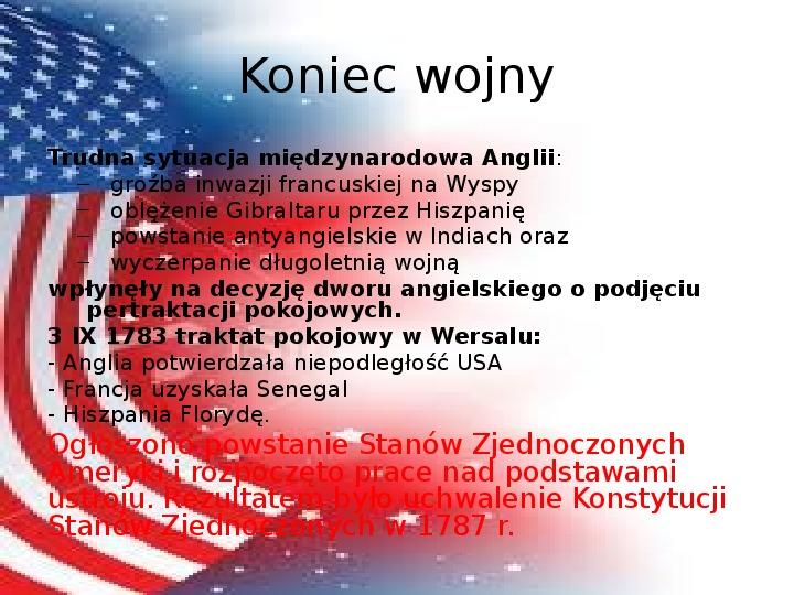 Powstanie Stanów Zjednoczonych Ameryki - Slajd 17