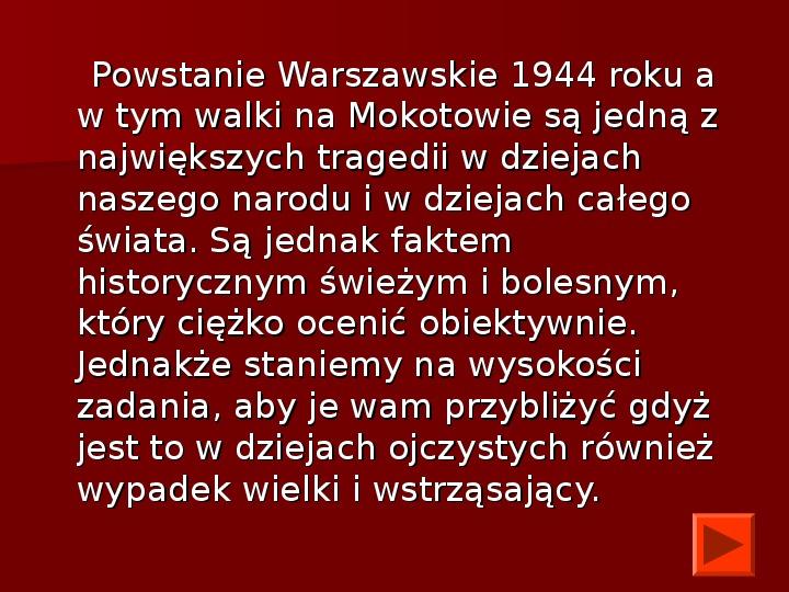 Powstanie Warszawskie 1944 - Slajd 1