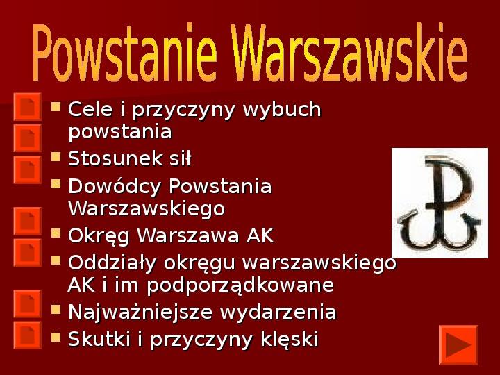 Powstanie Warszawskie 1944 - Slajd 2