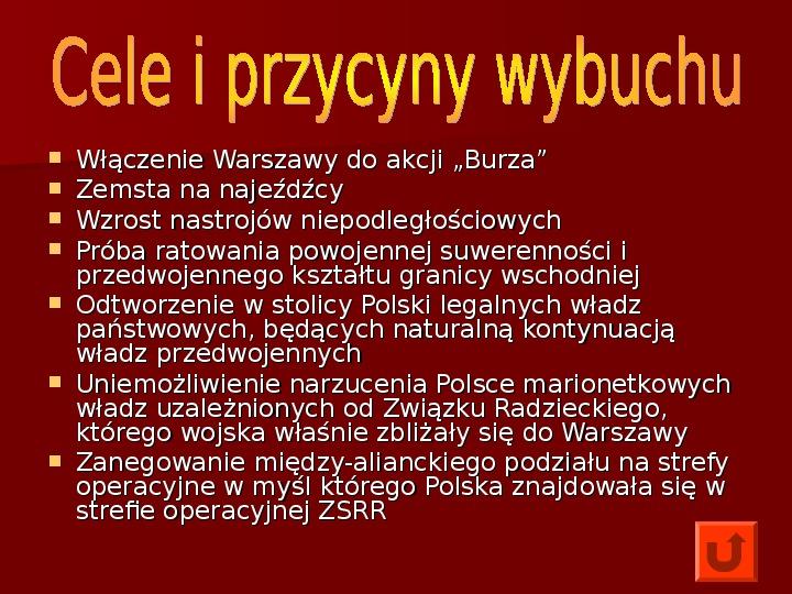 Powstanie Warszawskie 1944 - Slajd 3
