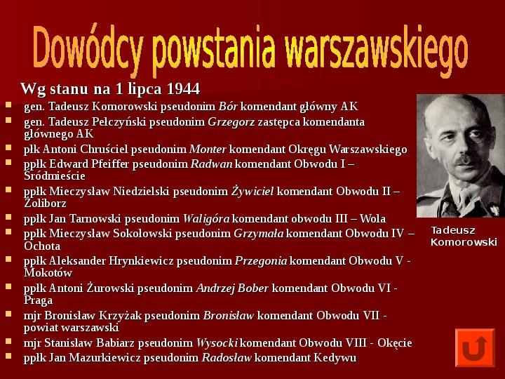 Powstanie Warszawskie 1944 - Slajd 5