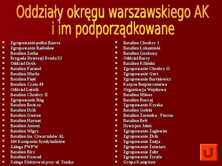 Powstanie Warszawskie 1944 - Slajd 7