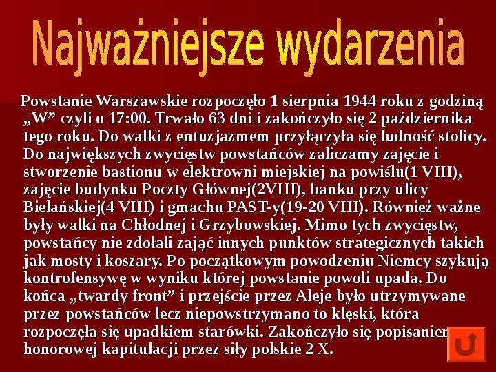Powstanie Warszawskie 1944 - Slajd 8