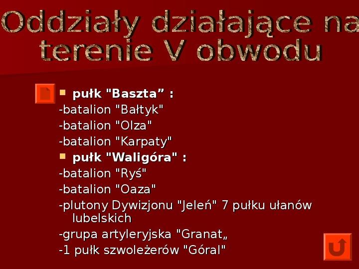 Powstanie Warszawskie 1944 - Slajd 14