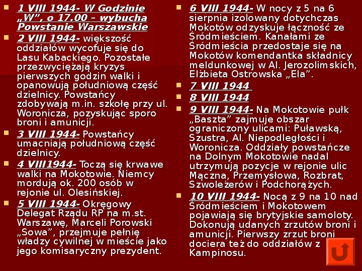 Powstanie Warszawskie 1944 - Slajd 18
