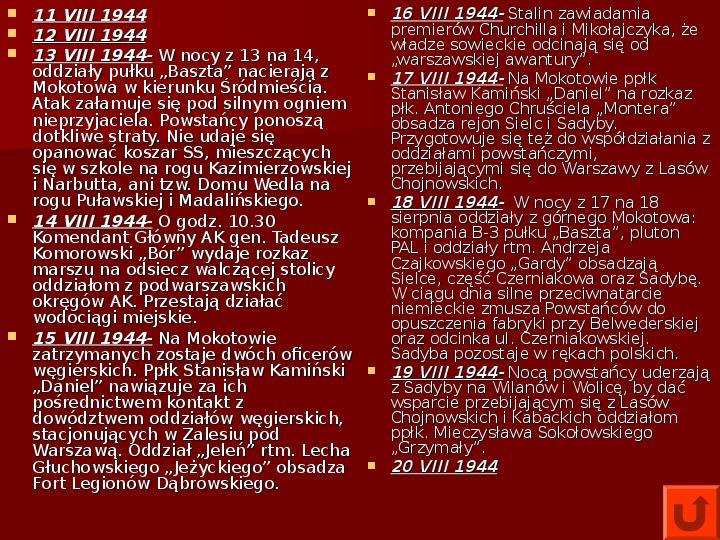 Powstanie Warszawskie 1944 - Slajd 19
