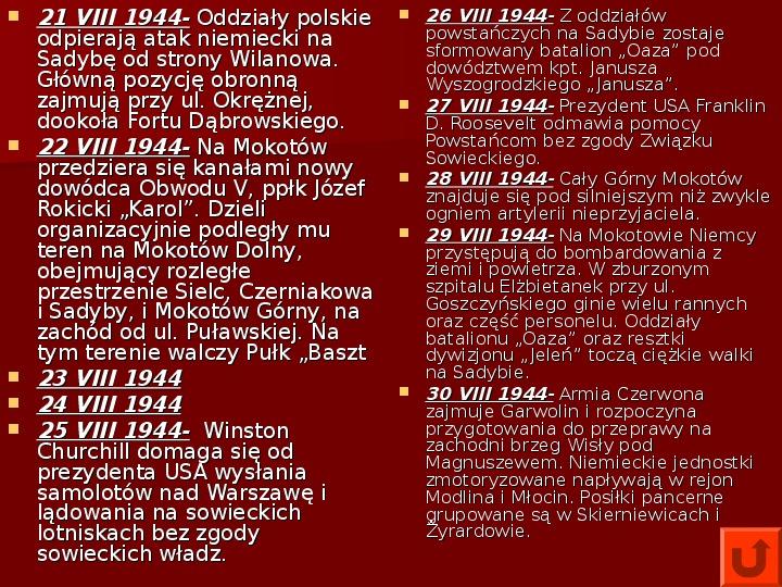 Powstanie Warszawskie 1944 - Slajd 20