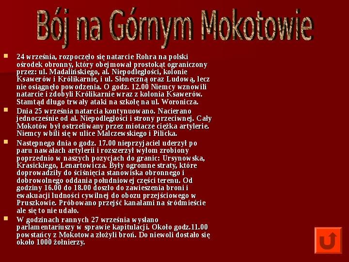 Powstanie Warszawskie 1944 - Slajd 24