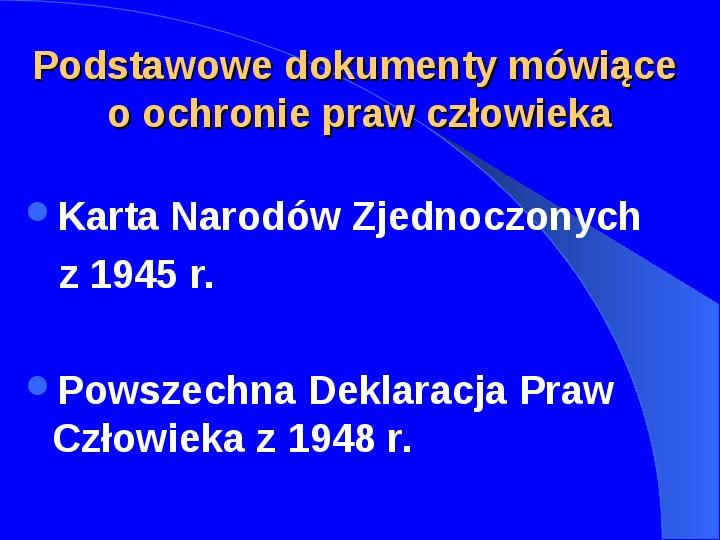 Prawa człowieka w Polsce - Slajd 1