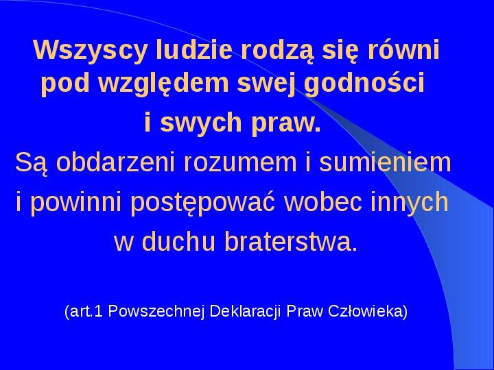 Prawa człowieka w Polsce - Slajd 2