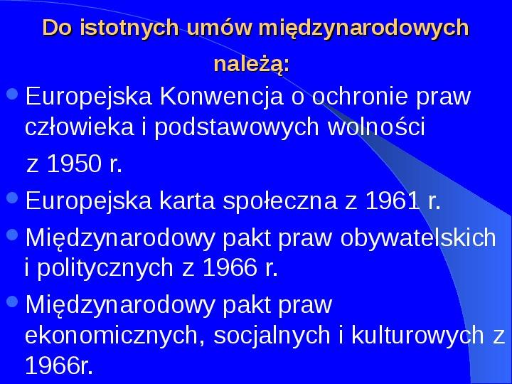 Prawa człowieka w Polsce - Slajd 3