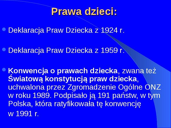 Prawa człowieka w Polsce - Slajd 4