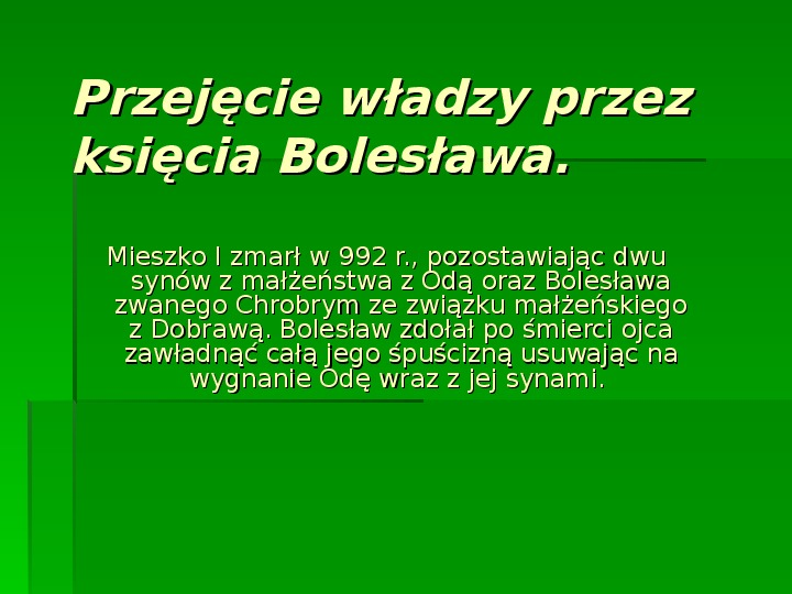 Bolesław Chrobry - Slajd 1