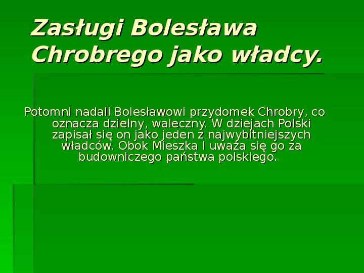 Bolesław Chrobry - Slajd 8