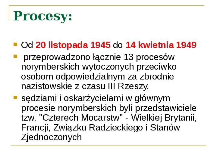 Procesy Norymberskie - Slajd 3