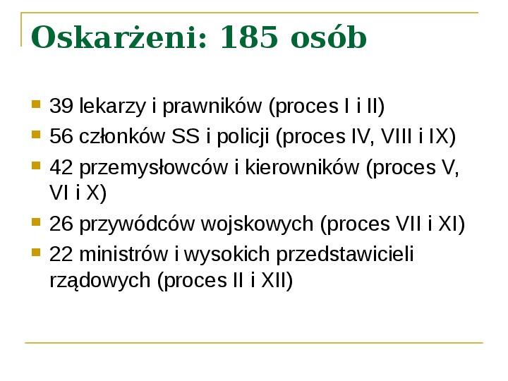 Procesy Norymberskie - Slajd 4