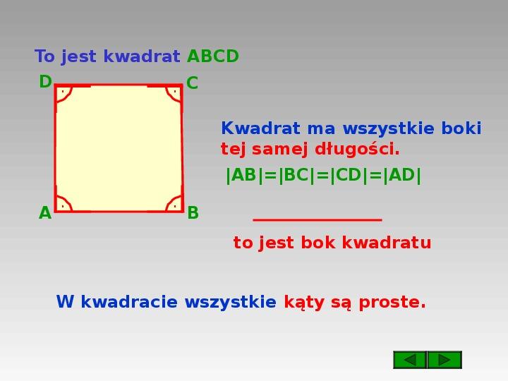 Prostokąt i kwadrat - Slajd 4