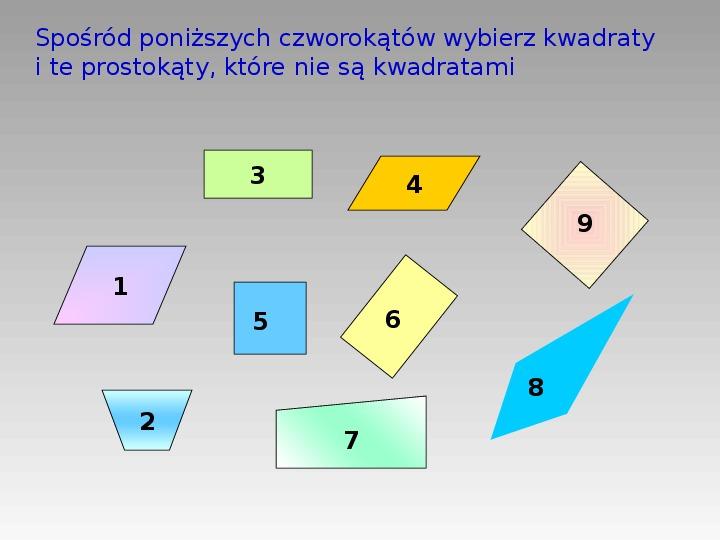 Prostokąt i kwadrat - Slajd 6