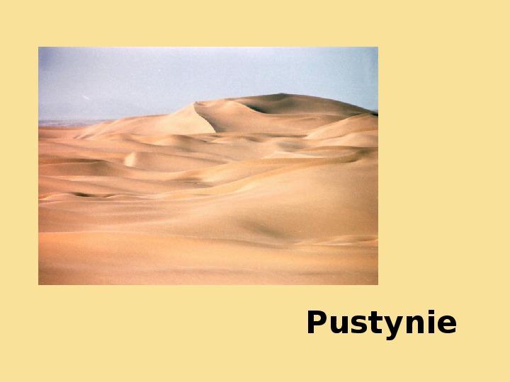 Pustynie - Slajd 1
