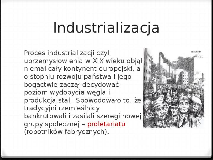 Rewolucja przemysłowa w pocz. XIX wieku - Slajd 2