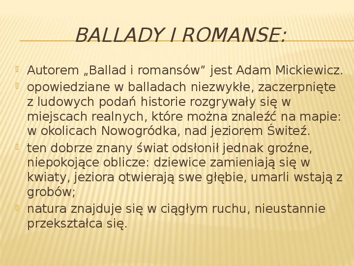 Romantyzm - Slajd 12