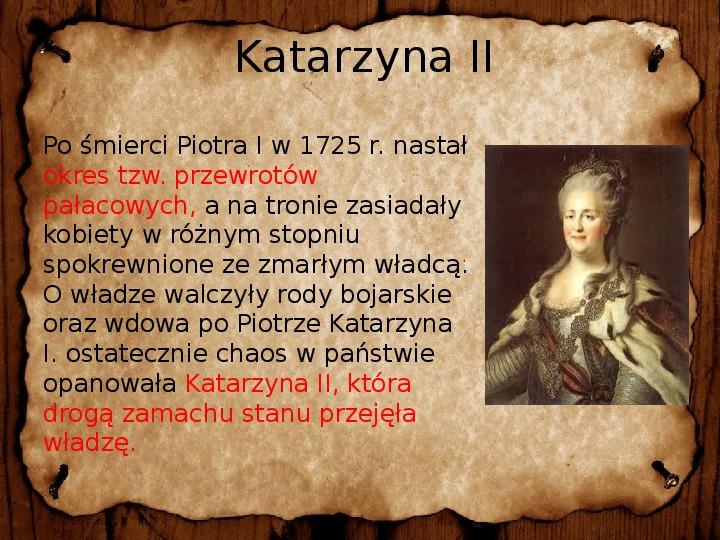 Rosja, Prusy i Austria w XVIII wieku - Slajd 10