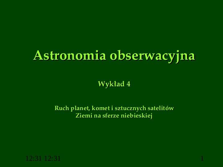 Astronomia obserwacyjna - Slajd 1