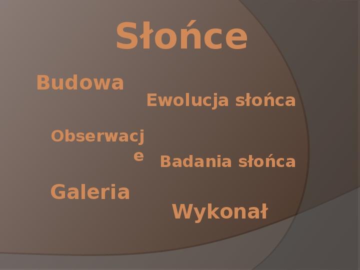 Słonce - Slajd 1