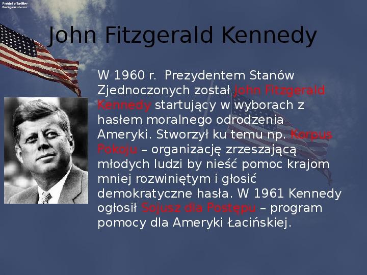 Stany Zjednoczone i kontynent amerykański po II wojnie - Slajd 7