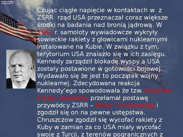Stany Zjednoczone i kontynent amerykański po II wojnie - Slajd 9