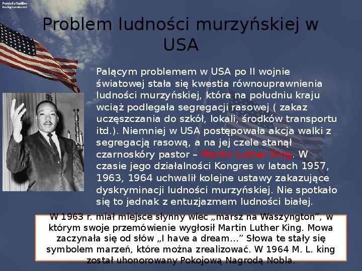 Stany Zjednoczone i kontynent amerykański po II wojnie - Slajd 11