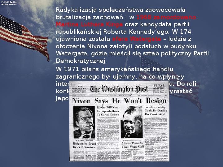 Stany Zjednoczone i kontynent amerykański po II wojnie - Slajd 14