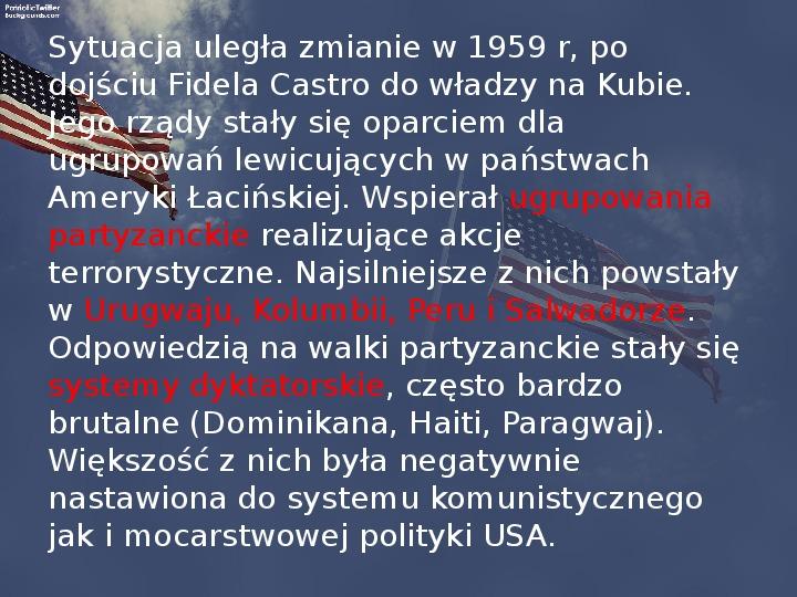 Stany Zjednoczone i kontynent amerykański po II wojnie - Slajd 18