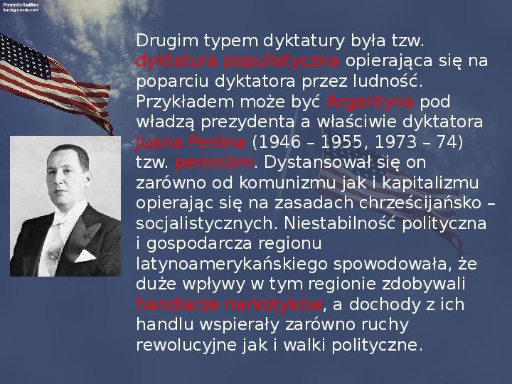 Stany Zjednoczone i kontynent amerykański po II wojnie - Slajd 20