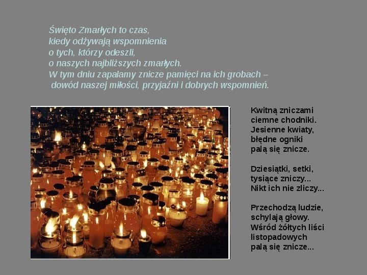 Święto zmarłych - Slajd 8